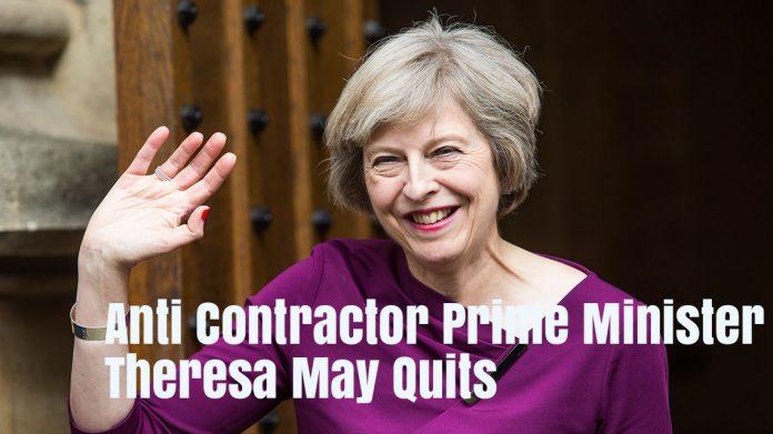 Anti Contractor Prime Minister Theresa Ma