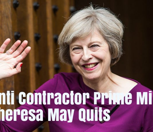 Anti Contractor Prime Minister Theresa May